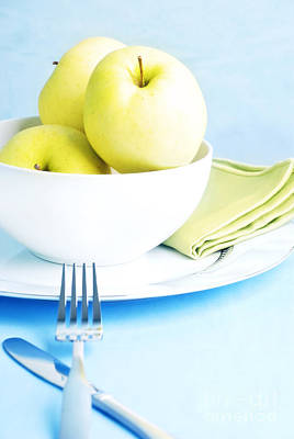 Golden Delicious Apples Print by HD Connelly