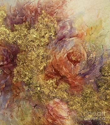 Ceramic Mixed Media - Golden Rose Path by Kathleen Pio