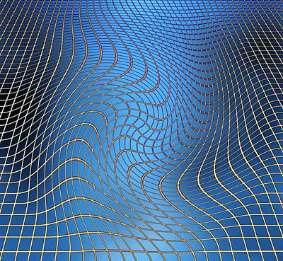 Gravity Waves In Space-time, Artwork Print by Victor De Schwanberg