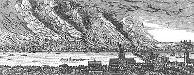 Great Fire Of London, 1666 Print by Photo Researchers
