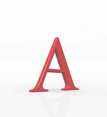 Greek Letter Alpha, Upper Case Print by David Parker