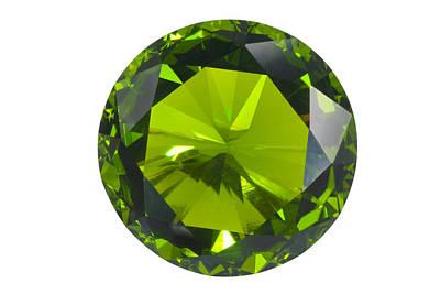 Gemstones Jewelry - Green Gem Isolated by Atiketta Sangasaeng