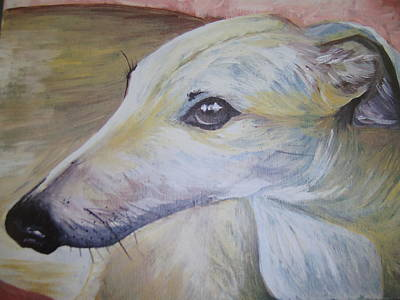 Greyhound Print by Leslie Manley