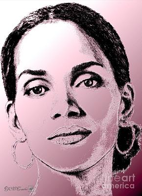 Mccombie Mixed Media - Halle Berry In 2008 by J McCombie