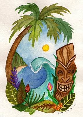Hawaiian Vignette Print by Heather Torres