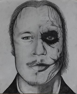 Heath Ledger Drawing - Heath Ledger Joker by Stephen Ford