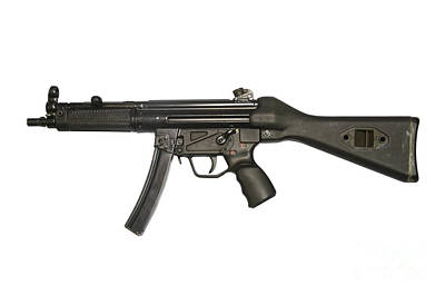 Heckler And Koch 9mm Mp5 Submachine Gun Print by Andrew Chittock