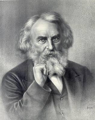 Henry Wadsworth Longfellow 1807-1882 Print by Everett