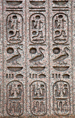 Hieroglyphs Photograph - Hieroglyphs On Ancient Carving by Jane Rix