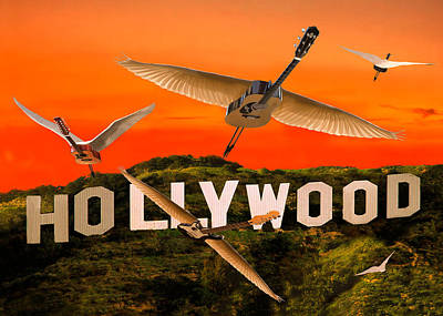 Olive Wood Sculpture Digital Art - Hollywood Rocks by Eric Kempson