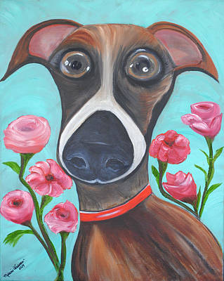 Neutered Painting - Hooper Icon For Shelter Dogs by Melanie Wadman
