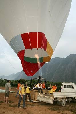 Hot Air Balloon Print by Photostock-israel