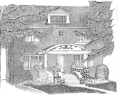 House / Home Rendering Print by Marty Rice