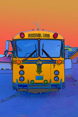 Old School Bus Photograph - Hoverbus by Gregory Scott