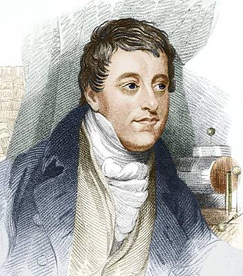 Humphry Davy, English Chemist Print by Sheila Terry