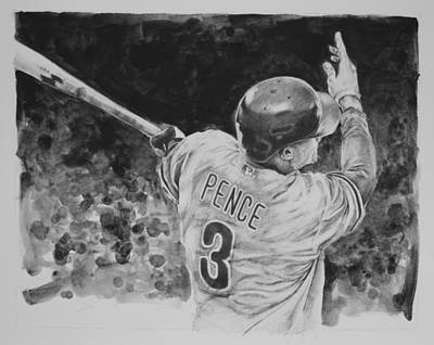Hunter Pence Original by Paul Autodore