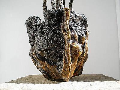 Hypertufa Sculpture - Hypertufa Primitive Pottery Sculptures - Set Of 2 - Sold by Randy Stewart