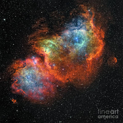 Ic Images Photograph - Ic 1848, The Soul Nebula by Rolf Geissinger
