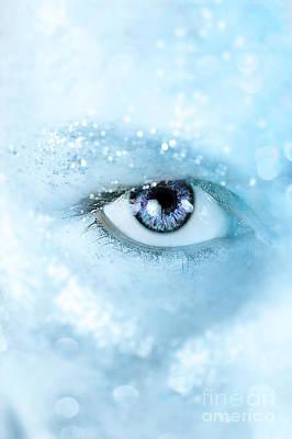 Ice Blue Print by Stephanie Frey