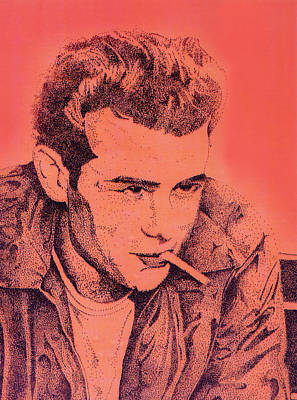 Young Man Drawing - James Dean by Debbie McIntyre