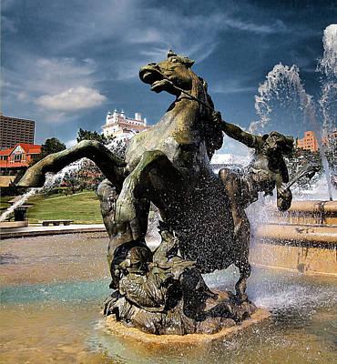 Fountains Photograph - Jc Nichols Fountain by Laurie Douglas