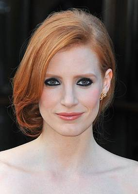 2010s Makeup Photograph - Jessica Chastain At Arrivals For The by Everett