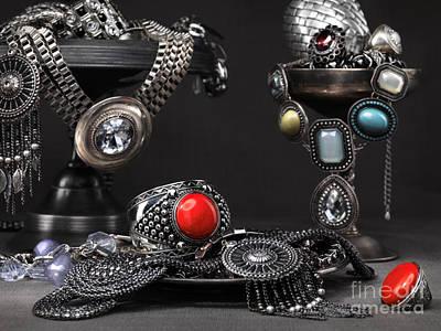 Studio Art Jewelry Photograph - Jewellery Still Life by Oleksiy Maksymenko