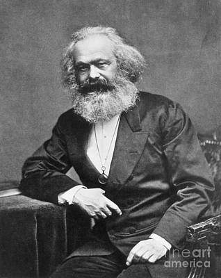 Karl Heinrich Marx, German Polymath Print by Photo Researchers