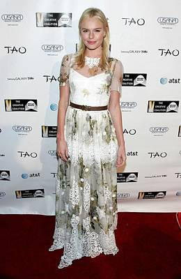 Belted Dress Photograph - Kate Bosworth Wearing A Dolce & Gabbana by Everett