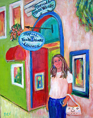 Sign In Florida Painting - Kathy At The Trade Winds by Patricia Taylor