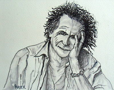 Keith Richards Drawing - Keef by Pete Maier