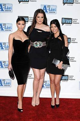 Bravos A-list Awards Photograph - Kim Kardashian, Khloe Kardashian by Everett