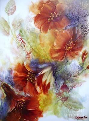 Ceramic Mixed Media - La Bignonia Rossa by Kathleen Pio