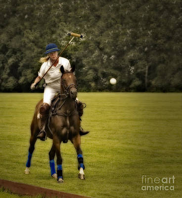 Action Photograph - Ladies Polo  by Susan Candelario