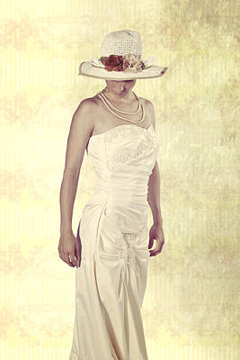 Necklace Photograph - Lady In White Dress by Joana Kruse