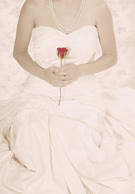 Evening Gown Photograph - Lady With A Rose by Joana Kruse