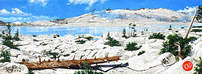 Pacific Crest Trail Painting - Lake Aloha by Richard Eaves Woods