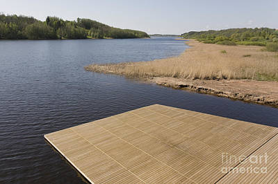 Wooden Platform Photograph - Lakeside Dock by Jaak Nilson