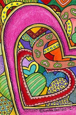 Layers Of Love Print by Linda Battles