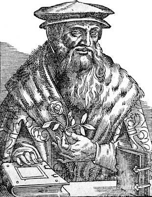 Leonhart Fuchs, German Botanist Print by Science Source