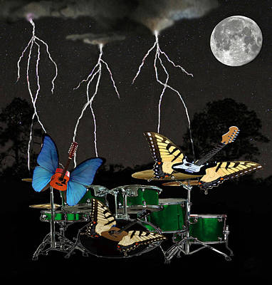 Flying Guitars Digital Art - Lets Dance by Eric Kempson