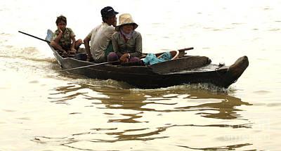 Life On Lake Tonle Sap 3 Print by Bob Christopher