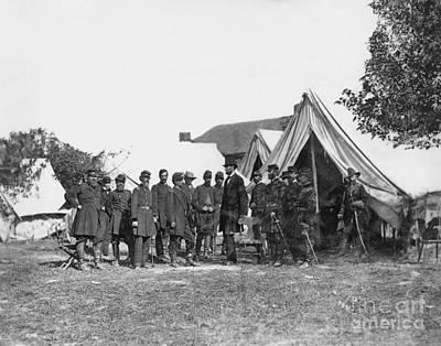 Brinton Photograph - Lincoln & Mcclellan by Granger