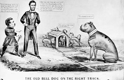 Brinton Photograph - Lincoln: Cartoon, 1864 by Granger