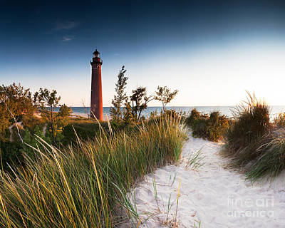 Little Sable Point Light Station Print by Larry Carr