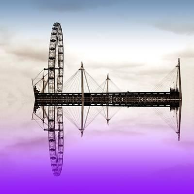London Eye Digital Art - London Eye by Sharon Lisa Clarke