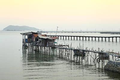 Long Bridge In The Sea Original by Anek Suwannaphoom
