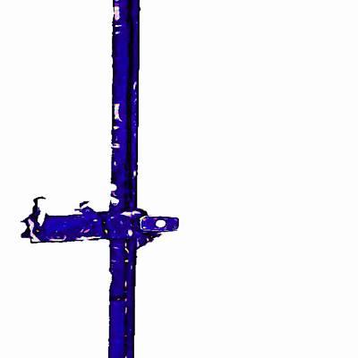 Long Lock In Blue Print by J erik Leiff