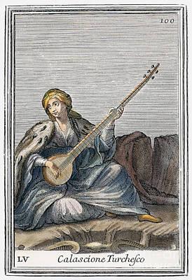 Long Lute, 1723 Print by Granger