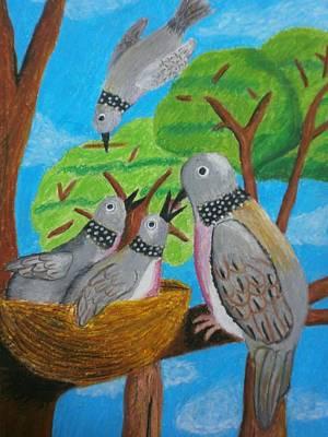 Love And Dove Print by Adam Wai Hou